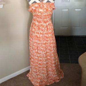 Mudd Maxi Dress Sundress SZ L Orange EUC